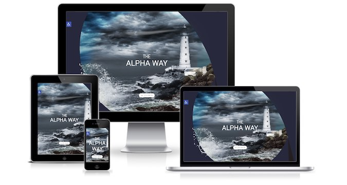 תצוגה רספונסיבית של אתר The AlphaWay
